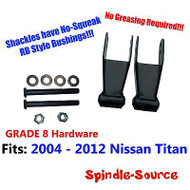 "2"" Lowering Shackles FOR 2004 - 2012 Nissan Titan Truck Rear 2WD 4WD Grade 8 RB"