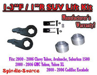 "2000 - 06 Chevrolet GMC 1500 1-3"" / 1"" Torsion Key Lift Chevy 00-06 Spacer + EXT"