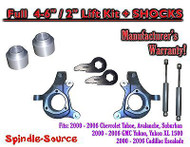 "2000 - 2006 Chevrolet GMC 1500 4-6"" / 2"" Lift Kit Spindles Spacer SUVs + SHOCKS"