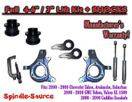 "2000 - 2006 Chevrolet GMC 1500 4-6"" / 3"" Lift Kit Spindles Spacer TOOL + SHOCKS"