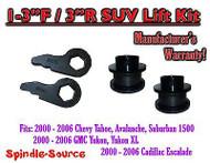 "2000 - 2006 Chevrolet GMC 1500 1-3"" / 3"" Torsion Key Lift Chevy 00-06 Spacer Kit"