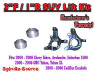 "2000 - 2006 Chevrolet GMC 1500 3"" / 1"" Lift Kit Spindles Spacer SUV 00-06 Chevy"