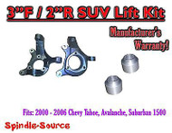"""2000 - 2006 Chevrolet Suburban Tahoe Avalanche 1500 2WD 3"""" / 2"""" Lift Kit Spindle"""