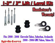 """2000 - 2006 CHEVY GMC 1500 SUVs tahoe yukon 1-3"""" Keys / 3"""" Leveling Kit + SHOCKS"""