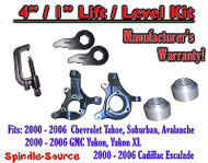 "2000 - 2006 Chevrolet GMC 1500 4"" / 1"" Lift Kit Spindles Spacer Keys Unload TOOL"