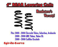 "2000 - 2006 Chevy GMC SUV 4"" Drop Lowering Coils Springs Suburban Tahoe + MORE"