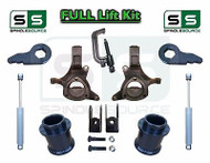"2000 - 2006 Chevy GMC SUV Yukon Tahoe 5-7"" /3"" Lift Kit Spindle SHOCKS TOOL EXT"