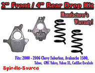 "2000 - 2006 Chevy GMC Tahoe Yukon Avalanche Escalade Suburban 2"" / 4"" Drop Kit"