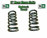 "2000 - 2006 Chevy GMC SUV 3"" Drop Lowering Coils Springs Suburban Tahoe + MORE"