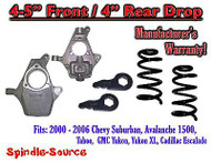 "2000 - 2006 Chevy GMC Tahoe Yukon Avalanche Escalade Suburban 4"" / 4"" Drop Kit"
