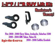 "2000 -06 Chevrolet GMC 1500 1-3"" / 1"" Torsion Key Lift Chevy 00-06 Spacer + TOOL"