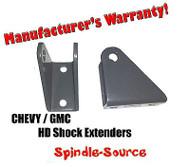 2000 - 2010 Sierra 1500HD 2500HD 3500HD 8-lug Shock Extender Bracket 00 - 10
