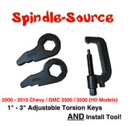 2000 - 2010 CHEVY GMC 2500 3500 HD Silverado Sierra Torsion Keys + INSTALL TOOL