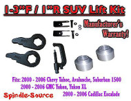"2000 -2006 Chevrolet GMC 1500 1-3"" / 1"" Torsion Key Lift Chevy Spacer EXT + TOOL"