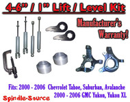 "2000- 2006 Chevrolet GMC 1500 4""-6"" / 1"" Lift Kit Spindles Spacer TOOL + SHOCKS"