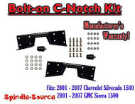 2001 - 07 Chevy Silverado GMC Sierra C-NOTCH for use with flip lowering drop kit