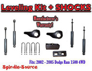 "2002 - 05 Dodge RAM 1500 4x4 4WD 1-3"" / 2"" Torsion Leveling KIT Keys + Shocks"