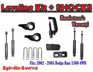 "2002 - 05 Dodge RAM 1500 4x4 4WD 1-3"" / 2"" Torsion Leveling KIT + Shocks + TOOL"