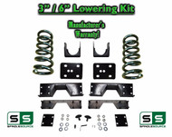 "2002 - 08 Dodge Ram 1500 V6 3"" / 6"" Lowering Drop Kit 2WD Coils Flip + C-NOTCH"