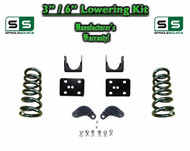 "2002 - 08 Dodge Ram 1500 V6 3"" / 6"" Lowering Drop Kit 2WD Coils Flip, Shock Ext."
