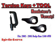 "2002 - 2005 Dodge RAM 1500 4x4 4WD 1"" - 3"" Torsion Lift / Leveling Keys + TOOL"