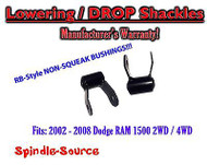 "2002 - 2008 Dodge Ram 1500 2"" Drop Lowering Shackles 2WD / 4x4 NO SQUEAK!"