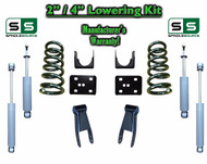 "2002 - 2008 Dodge Ram 1500 V6 2"" / 4"" Lowering Drop Kit 2WD Coils Flip + SHOCKS"