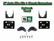 "2002 - 2008 Dodge Ram 1500 6"" REAR Axle Lowering Flip Kit 2WD + SHOCK EXTENDERS"