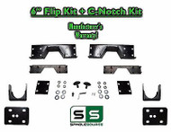 "2002 - 2008 Dodge Ram 1500 6"" REAR Axle Lowering Flip Kit 2WD + Bolt-on C-Notch"