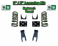 "2002 - 2008 Dodge Ram 1500 V6 2"" / 5"" Lowering Drop Kit 2WD Coils Flip Shackles"
