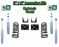 "2002 - 2008 Dodge Ram 1500 V6 3"" / 6"" Lowering Drop Kit 2WD Coils Flip + SHOCKS"
