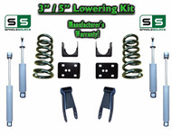 "2002 - 2008 Dodge Ram 1500 V6 3"" / 5"" Lowering Drop Kit 2WD Coils Flip + SHOCKS"