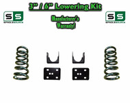 "2002 - 2008 Dodge Ram 1500 V6 3"" / 6"" Lowering Drop Kit 2WD Coils Flip Kit"
