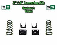 "2002 - 2008 Dodge Ram 1500 V6 3"" / 6"" Lowering Drop Kit 2WD Coils Flip Kit"