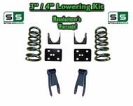 """2002 - 2008 Dodge Ram 1500 V6 3"""" / 4"""" Lowering Drop Kit 2WD Coils Flip Shackles"""