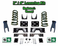 "2002 - 2008 Dodge Ram 1500 V8 3"" / 4"" Lowering Drop Kit 2WD Coils Flip + C-Notch"