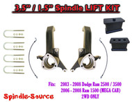 "2003 - 2008 Dodge Ram 2500 3500 (1500 MEGA CAB) 2WD 3.5"" / 1.5"" LIFT KIT UBH"