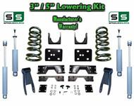 "2002 - 2008 Dodge Ram 1500 V8 3"" / 5"" Lowering Drop Kit 2WD Coils Flip + C-Notch"