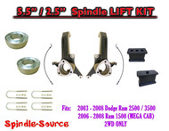 "2003 - 2008 Dodge Ram 2500 3500 (1500 MEGA CAB) 2WD 5.5"" / 2.5"" LIFT KIT UBH"