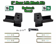 "2004 - 2018 Ford F-150 F150 REAR 5"" inch Tapered Fab Lift Blocks Bumpstop + Ubolts"
