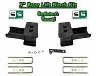 "2004 - 2018 Ford F-150 F150 REAR 3"" inch Tapered Fab Lift Blocks Bumpstop + Ubolts"