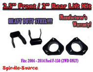 "2004 - 14 Ford F150 F-150 Mark 2.5 Lift Strut Spacer + 2"" Shackle Kit 2.5 / 2"""