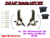 "2003 - 2008 Dodge Ram 2500 3500 (1500 MEGA CAB) 2WD FULL 3.5"" LIFT KIT UBH"