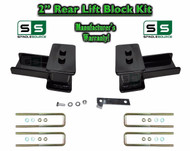 "2004 - 2018 Ford F-150 F150 REAR 2"" inch Tapered Fab Lift Blocks Bumpstop + Ubolts"