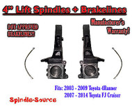 "2003 - 2015 Toyota 4Runner / 2007 - 2014 FJ Cruiser 4"" inch Lift Spindles 2WD"