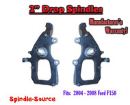 "2004 - 2008 Ford F-150 2WD 2"" Drop Lowering Spindles Knuckles 2in inch F150 150"