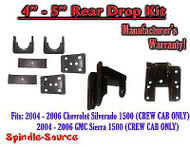 "2004 - 2006 Chevy Silverado GMC Sierra CREW CAB 4"" - 5"" REAR Drop KIT"