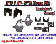 "2004 - 2006 Chevy Silverado GMC Sierra CREW CAB ONLY 2/4"" - 2/5"" DROP KIT"