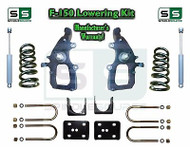 "2004 - 2008 Ford F-150 2WD 4"" / 6"" Drop Lowering Kit Spindles Shackles + SHOCKS"