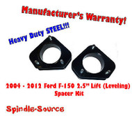 "2004 - 2012 Ford F-150 Lincoln Mark LT 2.5"" in Leveling Lifting Strut Spacer Kit"